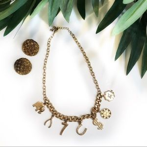 "Vintage Gold ""lucky charm"" necklace"